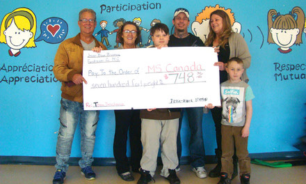 {Eardley Student raises $748 for MS Society of Canada}